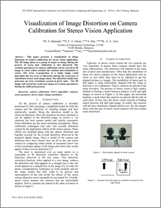 Visualization of Image Distortion on Camera Calibration for Stereo